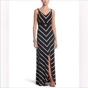 White House black market chevron maxi dress